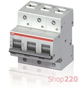 Автомат 100А, 3 полюса, уставка C, ABB S803B-C100