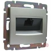 Розетка компьютерная RJ45, алюминий, Legrand 770230 Valena
