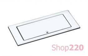 Вращающийся блок розеток 220В+USB EVOline BackFlip, белое стекло
