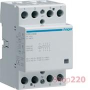 Контактор безшумный 230В 40 A, 4но, Hager ESN440B