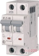 Автоматический выключатель 16А, тип C, 2 полюса, HL-C16/2 Eaton 194771