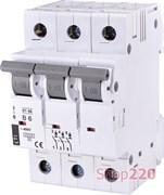 Автоматический выключатель 6А, 3 полюса, тип B, Eti 2175312