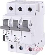 Автоматический выключатель 10А, 3 полюса, тип B, Eti 2175314