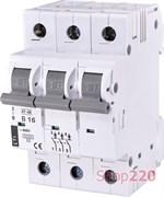 Автоматический выключатель 16А, 3 полюса, тип B, Eti 2175316