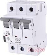 Автоматический выключатель 32А, 3 полюса, тип B, Eti 2175319
