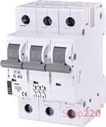 Автоматический выключатель 40А, 3 полюса, тип B, Eti 2175320