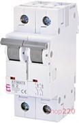 Автоматический выключатель 2А, 2 полюса, тип B, Eti 2113510