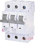 Автоматический выключатель 63А, 3 полюса, тип B, Eti 2115522