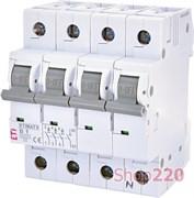 Автоматический выключатель 1А, 3+N полюс, тип B, Eti 2116509
