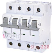 Автоматический выключатель 6А, 3+N полюс, тип B, Eti 2116512