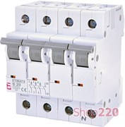 Автоматический выключатель 20А, 3+N полюс, тип B, Eti 2116517