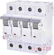 Автоматический выключатель 40А, 3+N полюс, тип B, Eti 2116520