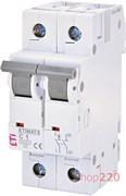 Автоматический выключатель 1А, 2 полюса, тип C, Eti 2142504