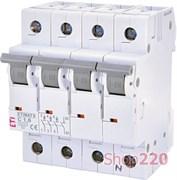 Автоматический выключатель 1,6А, 3+N полюс, тип C, Eti 2146507