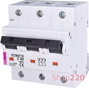 Автоматический выключатель 80А, 3 полюса, тип C, Eti 2135731
