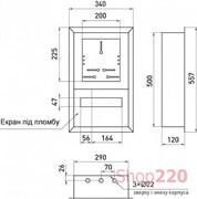 Щит для счетчика встраиваемый + 12 модулей, e.mbox.pro.w.f3.12z Enext s0100226