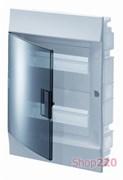 Щиток на 36 модулей, встраиваемый, прозрачная голубая дверца, ABB Mistral41F