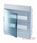 Щиток на 24 модуля, встраиваемый, прозрачная голубая дверца, ABB Mistral41W