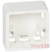 Коробка для накладного монтажа глубиной 40мм, белый, 80281 Legrand Mosaic