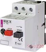 Автомат защиты двигателя 16А, MS25-16 ETI 4600110