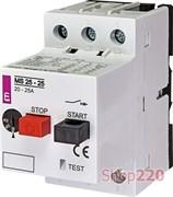 Автомат защиты двигателя 25А, MS25-25 ETI 4600320