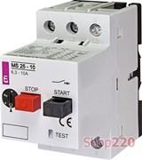Автомат защиты двигателя 10А, MS25-10 ETI 4600100