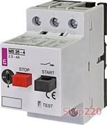 Автомат защиты двигателя 4А, MS25-4 ETI 4600080