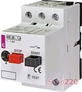 Автомат защиты двигателя 1,6А, MS25-1,6 ETI 4600060