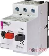 Автомат защиты двигателя 1А, MS25-1 ETI 4600050