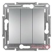 Выключатель трехлавишный, алюминий, EPH2100161 Schneider Asfora