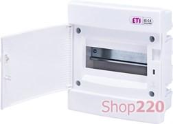 Щит электрический на 8 модулей, белая дверь, внутренний, ECМ 8PO ETI 1101014