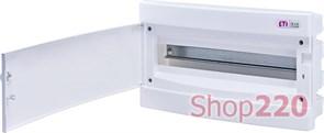 Щит электрический на 18 модулей, белая дверь, внутренний, ECМ 18 PO ETI 1101019