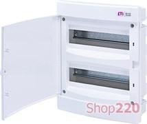 Щит электрический на 24 модуля, белая дверь, внутренний, ECМ 24 PO ETI 1101016