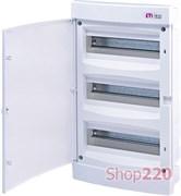 Щит электрический на 36 модулей, белая дверь, внутренний, ECМ 36 PO ETI 1101017