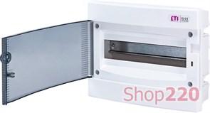 Щит электрический на 12 модулей, черная дверь, внутренний, ECМ 12PT ETI 1101011
