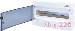 Щит электрический на 18 модулей, черная дверь, внутренний, ECМ 18 PT ETI 1101018