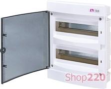 Щит электрический на 24 модуля, черная дверь, внутренний, ECМ 24 PT ETI 1101012