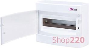 Щит на 12 модулей навесной, белая дверь, ECT 12PO ETI 1101006