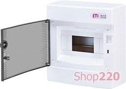 Щит на 8 модулей навесной, черная дверь, ECT 8PT ETI 1101000