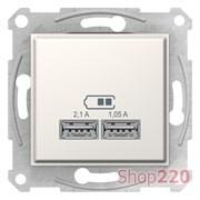 USB розетка, кремовый, SDN2710223 Schneider Electric Sedna