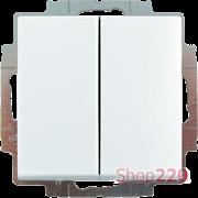 Выключатель 2-клавишный проходной, белый, ABB 2006/6/6 UC-94-507 Basic 55