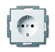 Розетка электрическая с заземлением, белый, ABB 20 EUC-94-507 Basic 55