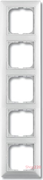 Рамка 5 постов, белый, ABB 2515-94-507 Basic 55