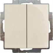 Выключатель 2-клавишный проходной, слоновая кость, ABB 2006/6/6 UC-92-507 Basic 55