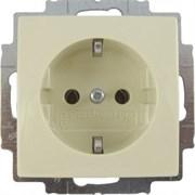 Розетка электрическая с заземлением, слоновая кость, ABB 20 EUC-92-507 Basic 55