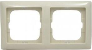 Рамка 2 поста, слоновая кость, ABB 2512-92-507 Basic 55