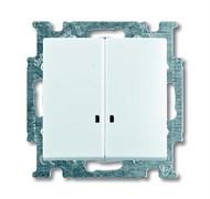 Выключатель 2-клавишный с подсветкой, белый, ABB 2006/5 UCGL-94-507 Basic 55
