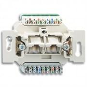 Розетка компьютерная RJ45 двойная (механизм), ABB 0220/12-507-101 Basic 55