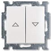 Выключатель жалюзи с фиксацией, белый, ABB 2006/4 UC-94-507 Basic 55