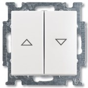 Выключатель жалюзи без фиксации, белый, ABB 2026/4 UC-94-507 Basic 55